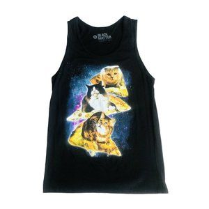 Cats On Pizza Riding Thru Cosmos Of Space Size S